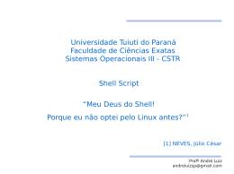 Universidade Tuiuti do Paraná Faculdade de Ciências Exatas