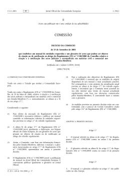 Jornal Oficial L 298, 15/11/2001, p. 1