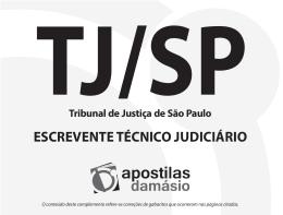 TJ/SP ESCREVENTE TÉCNICO JUDICIÁRIO Tribunal de Justiça de