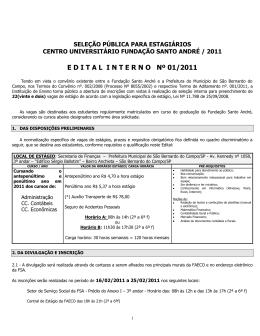 Veja o edital - Fundação Santo André
