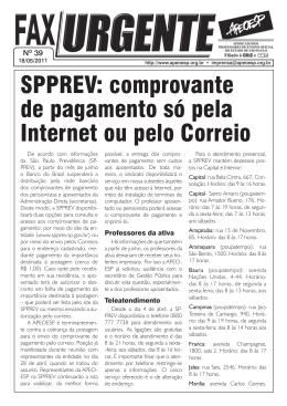 SPPREV: comprovante de pagamento só pela Internet ou pelo Correio