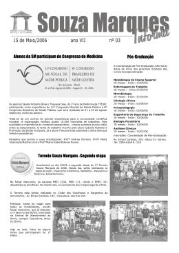 SM INFORMA 15 de MAIO - Faculdades Souza Marques