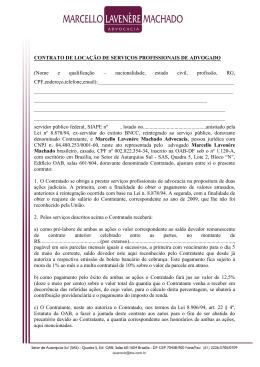 Contrato Locação de Serviços do Escritório Lavenère