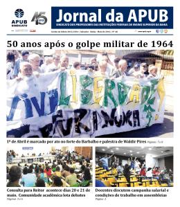 50 anos após o golpe militar de 1964