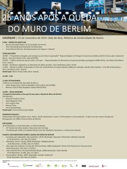 25 ANOS APÓS A QUEDA DO MURO DE BERLIM