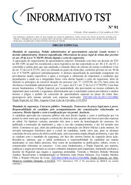 Informativo TST nº 091