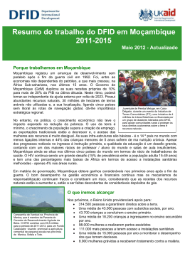Summary of DFID`s work in Mozambique 2011