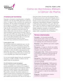 Como os Hormônios Afetam o Câncer de Mama