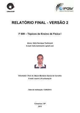RELATÓRIO FINAL - VERSÃO 2 - IFGW