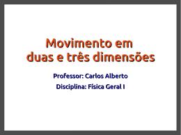 Movimento em duas e três dimensões
