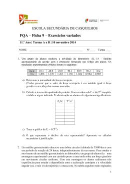 FQA – Ficha 9 – Exercícios variados