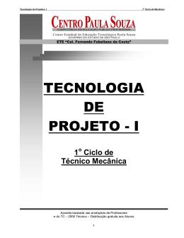 tecnologia de projeto - Etec Cel. Fernando Febeliano da Costa