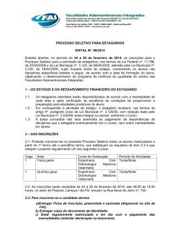 Processo Seletivo para Estagiários Edital nº. 06/2014