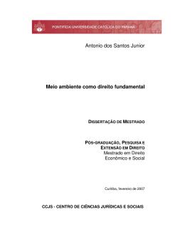 Antonio dos Santos Junior Meio ambiente como