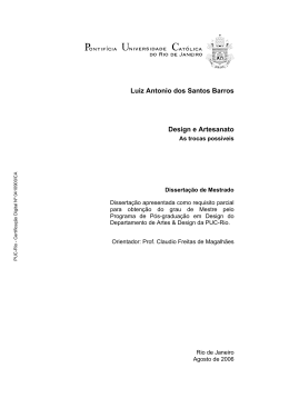 Luiz Antonio dos Santos Barros Design e Artesanato