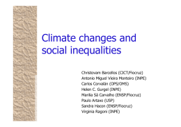 Climate changes and social inequalities