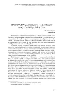 HARRINGTON, Austin (2004) – Art and social theory. Cambridge