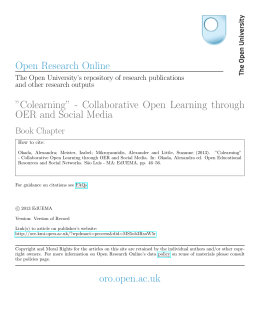 Colearning - Open Research Online