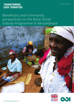 beneficiary and community perspectives on the basic social subsidy