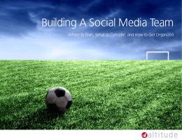 Building A Social Media Team