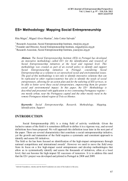 ES+ Methodology: Mapping Social Entrepreneurship