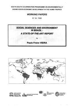 Social sciences and environment in Brazil: a state-of-the