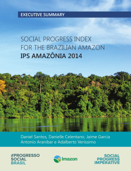 Social Progress Index for the Brazilian Amazon 2014