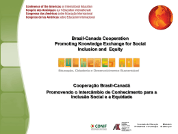 Brazil-Canada Cooperation Promoting Knowledge Exchange