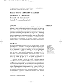 Social classes and values in Europe