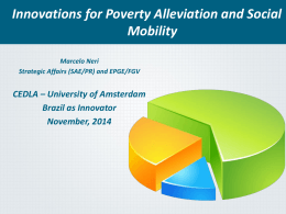 Innovations for Poverty Alleviation and Social