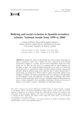 Bullying and social exclusion in Spanish secondary schools