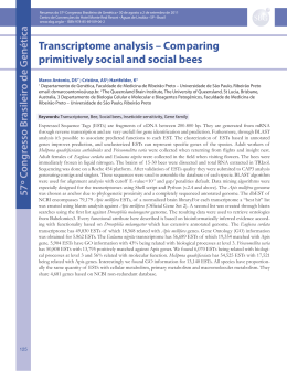 Transcriptome analysis – Comparing primitively social and social bees