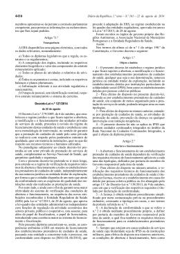 Decreto-Lei n.º 127/2014, de 22 de agosto