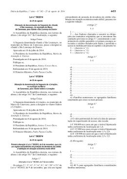 Lei 58/2014 - Faculdade de Direito da UNL