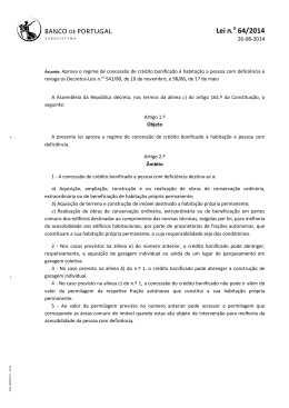 Lei n.o 64/2014 - Banco de Portugal