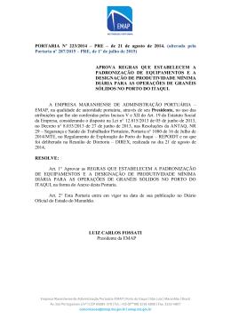 PORTARIA Nº 223/2014 – PRE – de 21 de agosto de 2014