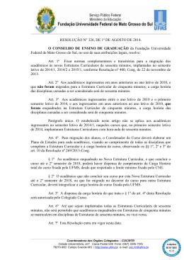 RESOLUÇÃO N° 326, DE 1º DE AGOSTO DE 2014 - PREG