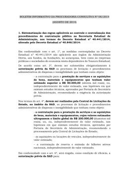 Boletim Nº 08/2014 - AGOSTO - PGE-PE