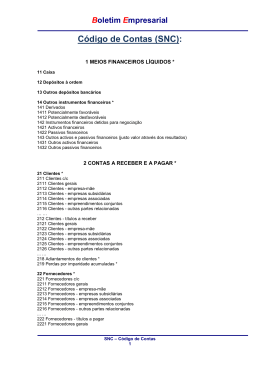 11 - Código de contas