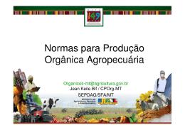 Normas para Produção Orgânica Agropecuária