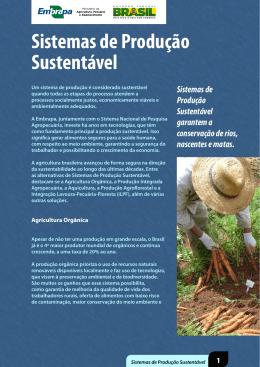 Sistemas de Produção Sustentável