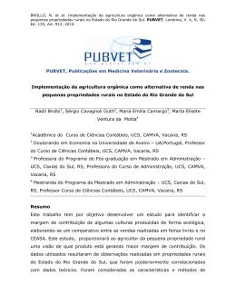 PUBVET, Publicações em Medicina Veterinária e Zootecnia