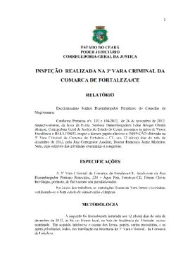 (RELAT\323RIO 3\252 VARA CRIMINAL DE FORTALEZA)