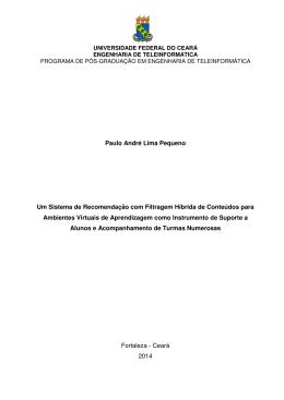 Paulo André Lima Pequeno Um Sistema de Recomendação com