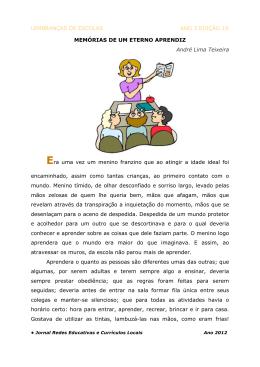 LEMBRANÇAS DE ESCOLAS ANO 3 EDIÇÃO 18 MEMÓRIAS DE