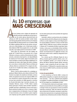 As 10 empresas que mais cresceram