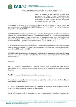 Altera a composição da Comissão Especial para