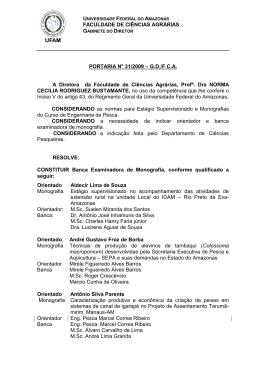 Portaria 031/2009 - FCA