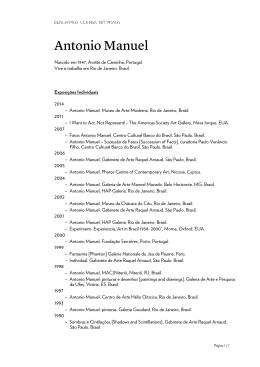 CV do artista em PDF