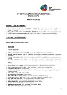 CIP – Órgãos Sociais 2011-2013